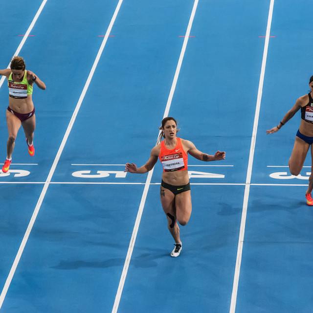 """""""3 running women"""" stock image"""