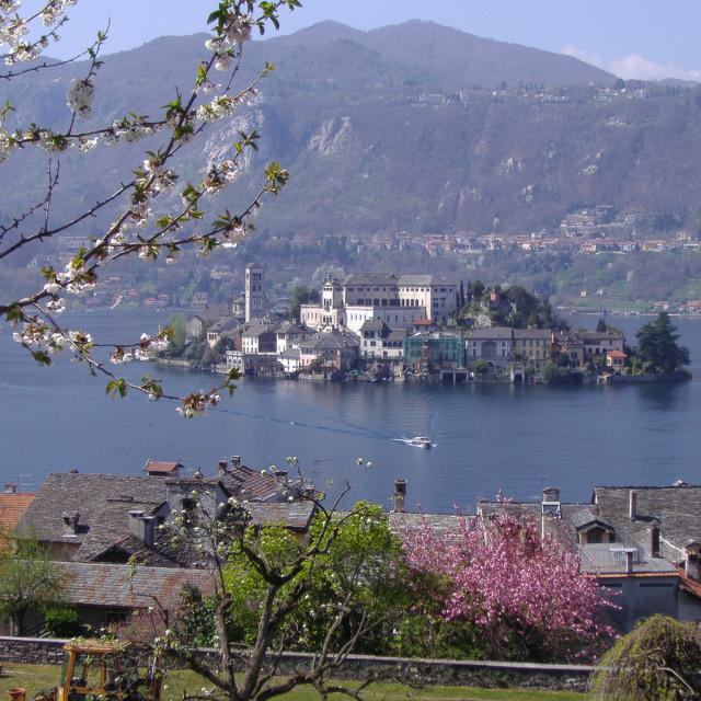 """""""Isola san Giulio Lago Maggiore ITALY"""" stock image"""