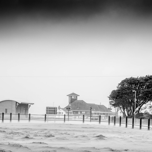 """""""Storm at Exmouth"""" stock image"""