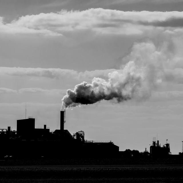 """Factory chimney smoke"" stock image"