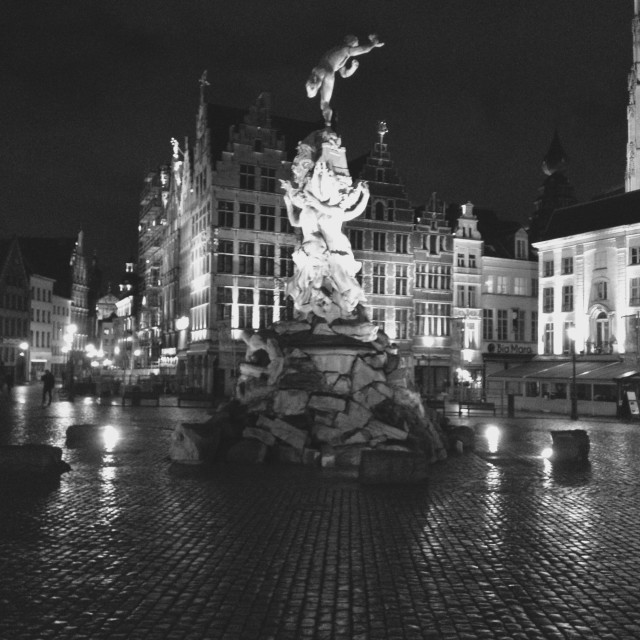 """Brabo fountain in Antwerp"" stock image"