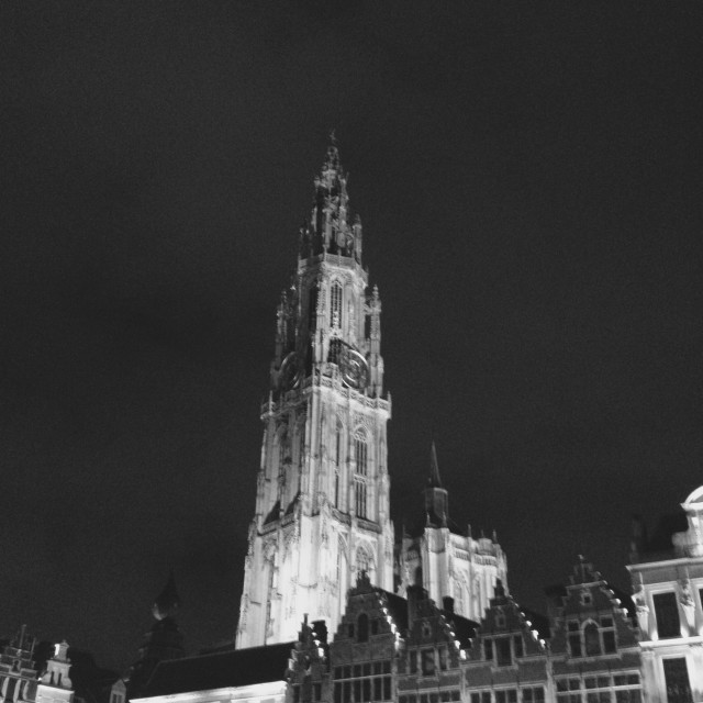 """Cathedral of Our Lady in Antwerp"" stock image"