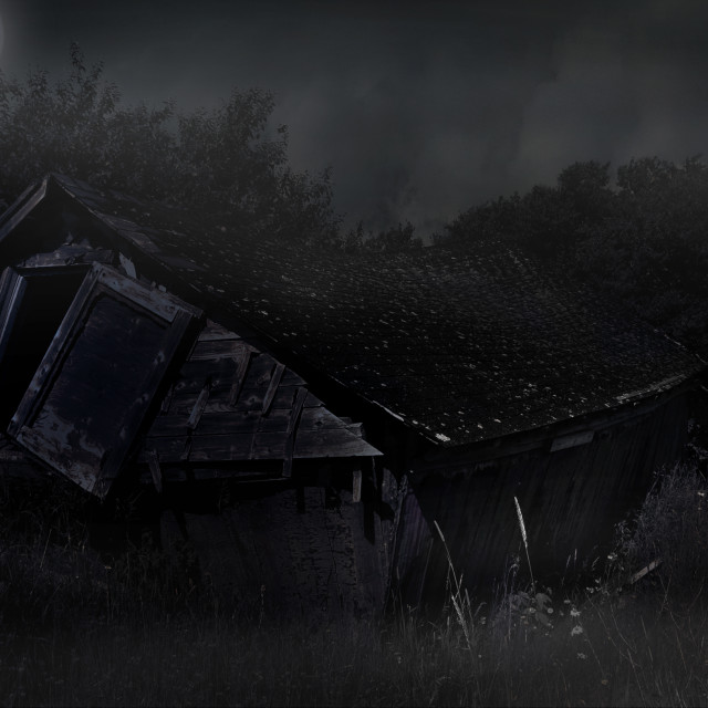 """""""Spooky house"""" stock image"""