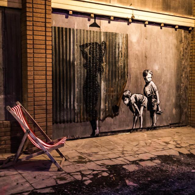 """Dismaland - Banksy"" stock image"