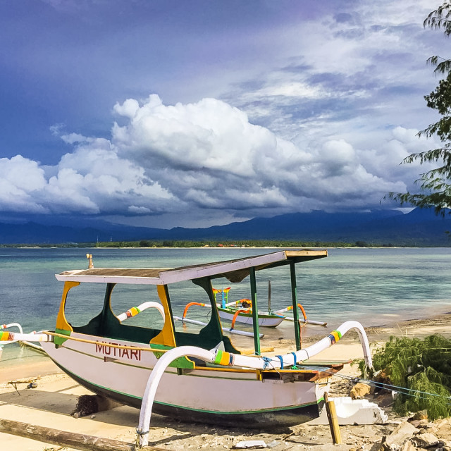 """Gili Air Boat sands"" stock image"