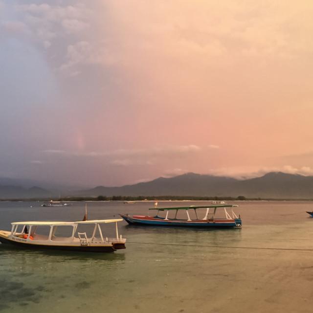 """""""Sunset at Gili Air"""" stock image"""