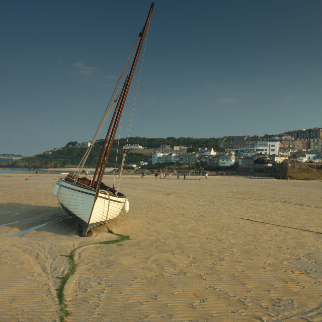"""""""St Ives Harbour"""" stock image"""