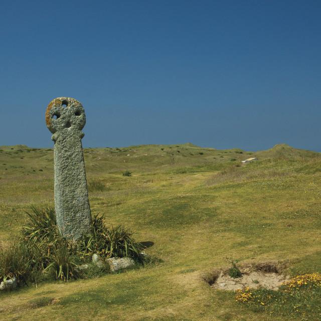 """St Piran's Cross"" stock image"