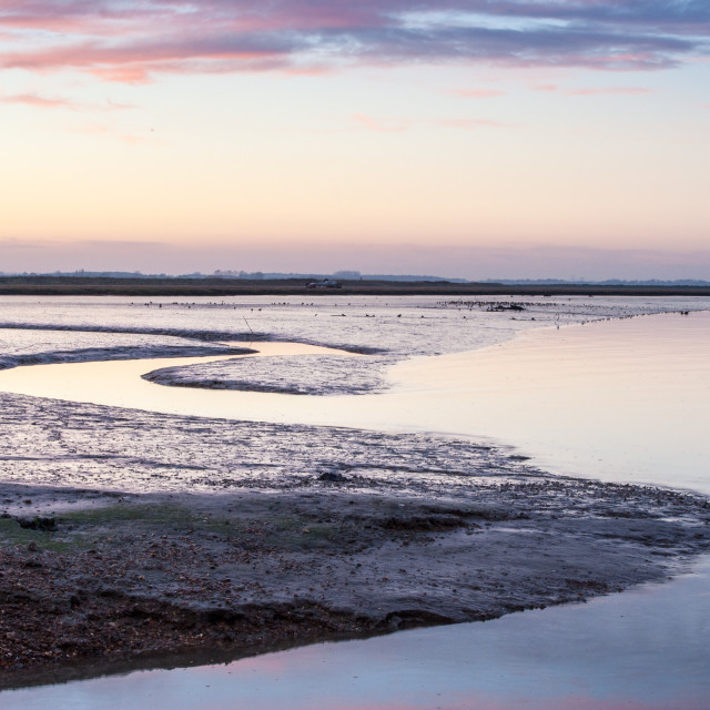 """River Deben golden hour"" stock image"