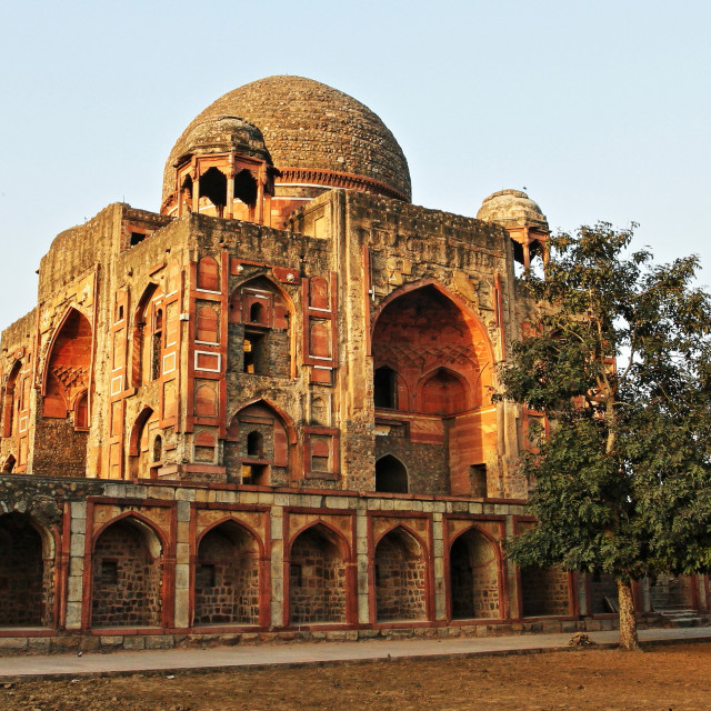 """KHAN-I-KHANA'S TOMB, DELHI, INDIA"" stock image"