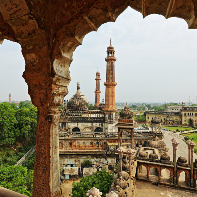 """ASFI MASJID or ASFI MOSQUE FROM BARA IMAMBARA, LUCKNOW, INDIA"" stock image"