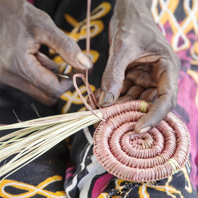 """The circle of Weaving"" stock image"
