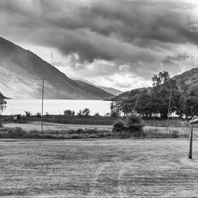 """Highland Games area, Glenfinnan."" stock image"