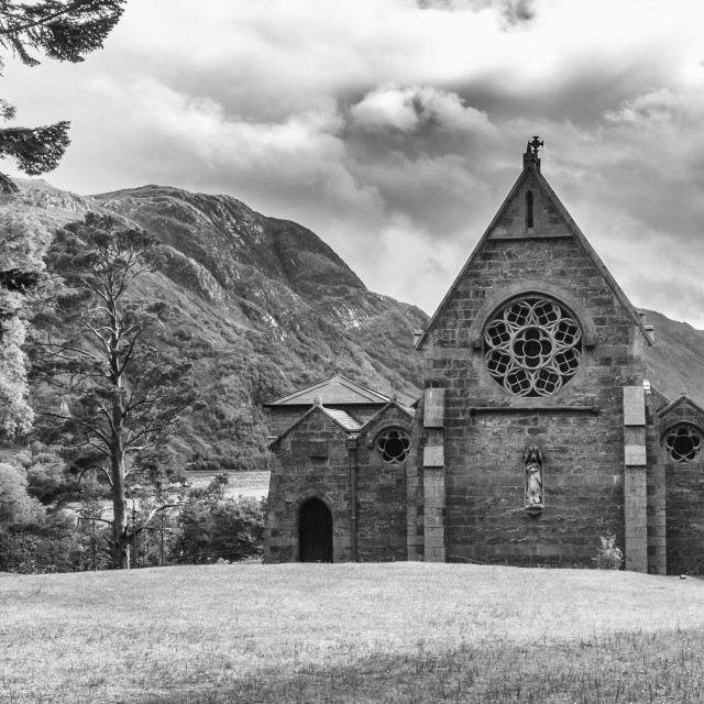 """Parish Church of Saint Mary and Saint Finnan - Glenfinnan"" stock image"