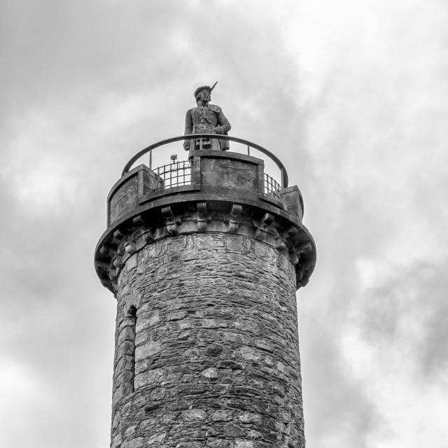 """The Jacobite Memorial Monument - Glenfinnan"" stock image"