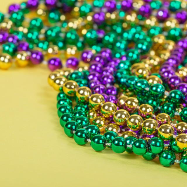 """Colorful Mardi Gras beads"" stock image"