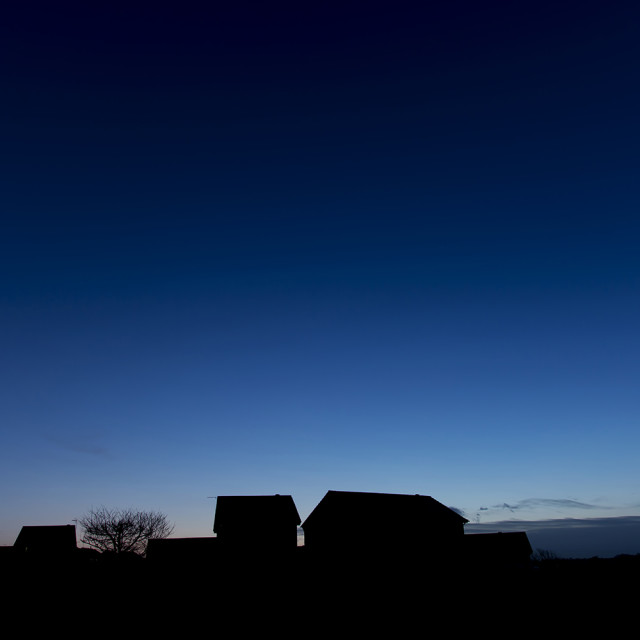 """""""Houses and blue sky"""" stock image"""