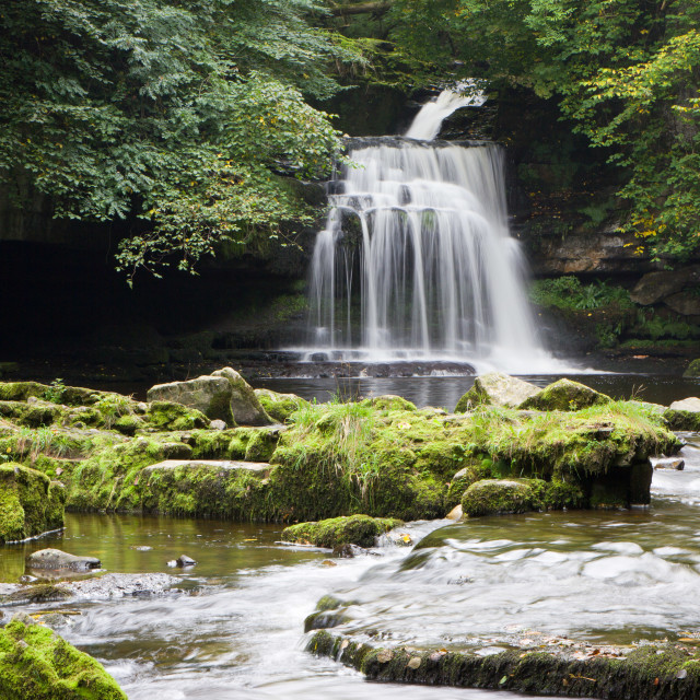 """West Burton Falls, Yorkshire"" stock image"