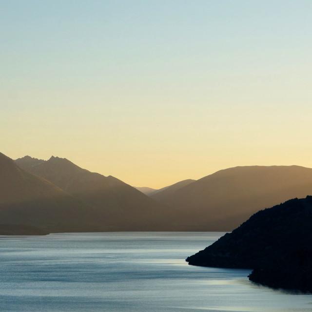 """Sunset on the rocks"" stock image"