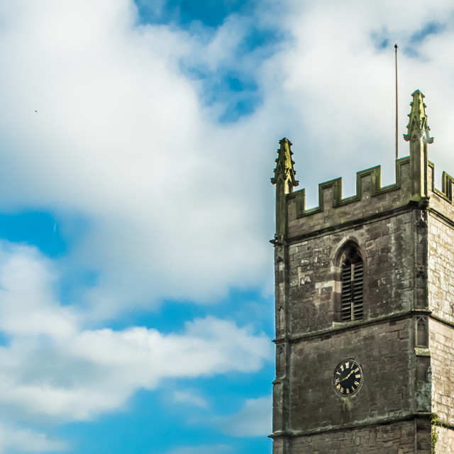 """St Cadocs church, Raglan"" stock image"