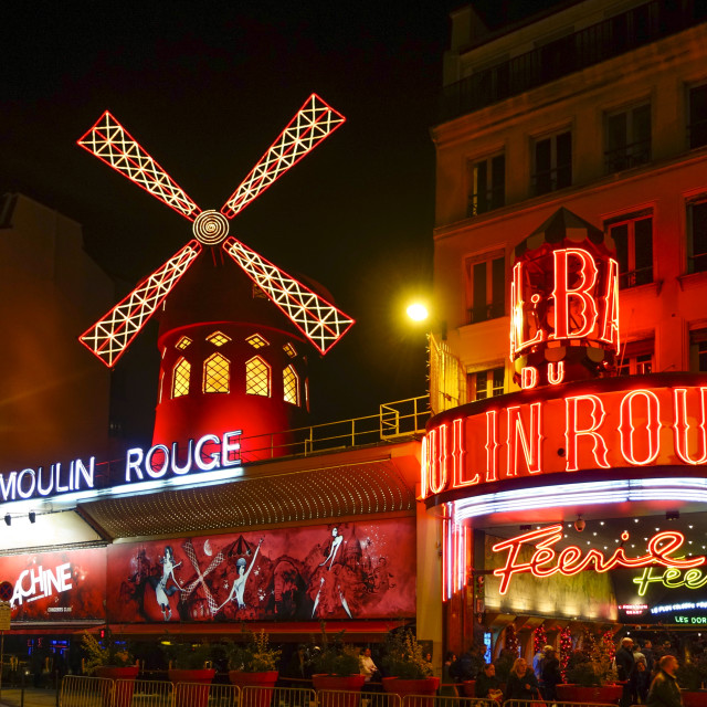 """Moulin rouge Paris"" stock image"