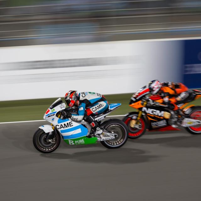 """Moto GP racers"" stock image"