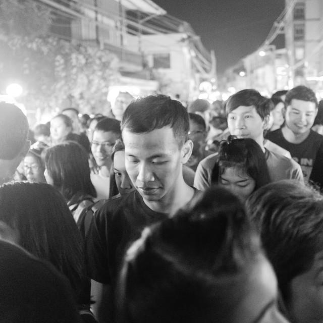 """walking street chiang mai"" stock image"