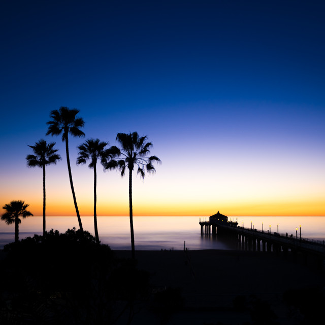 """Another California Sunset"" stock image"