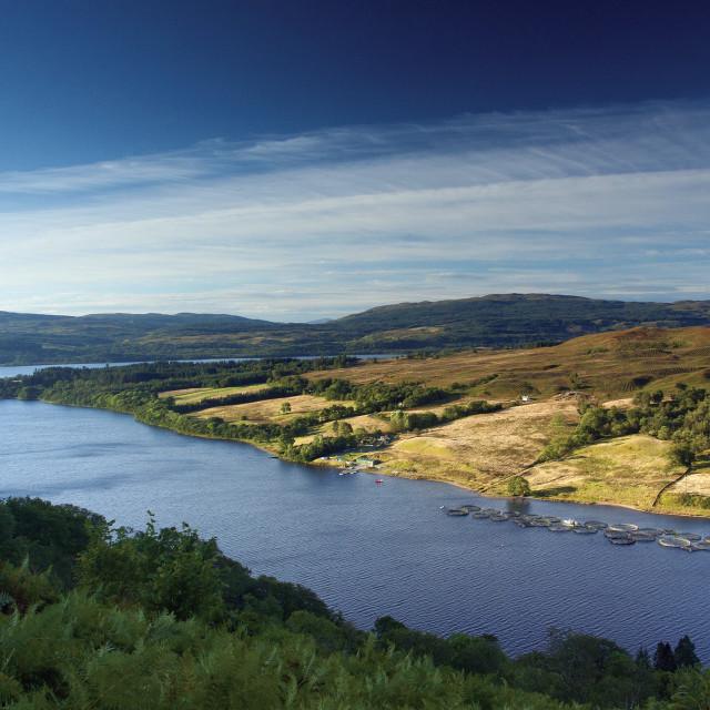 """Loch Awe"" stock image"