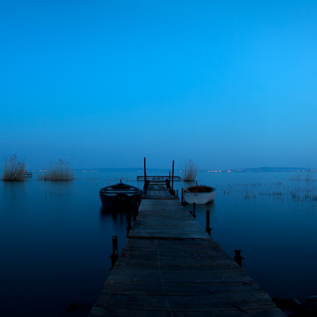 """The lake by night"" stock image"