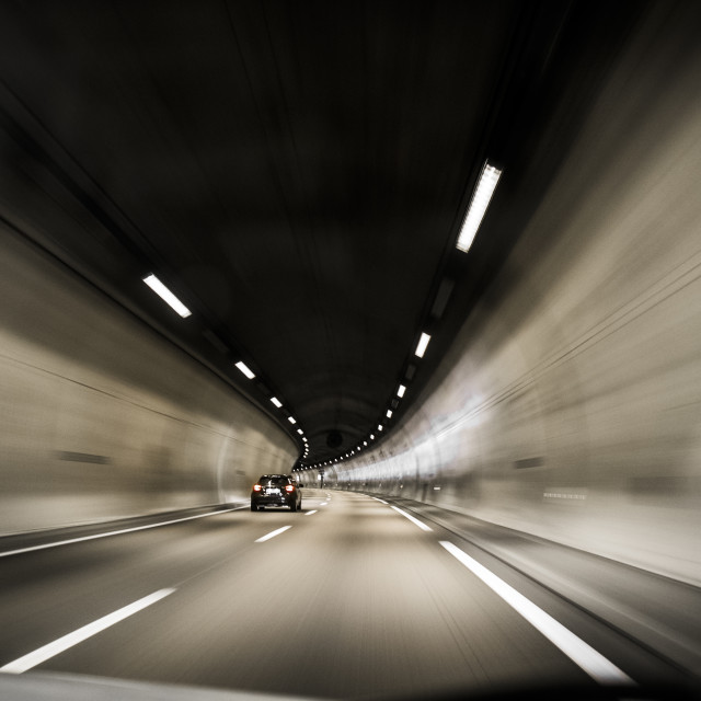 """""""Tunnel in a speedway"""" stock image"""