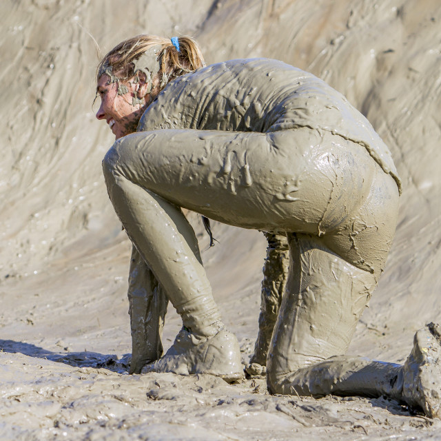 """Mud race"" stock image"