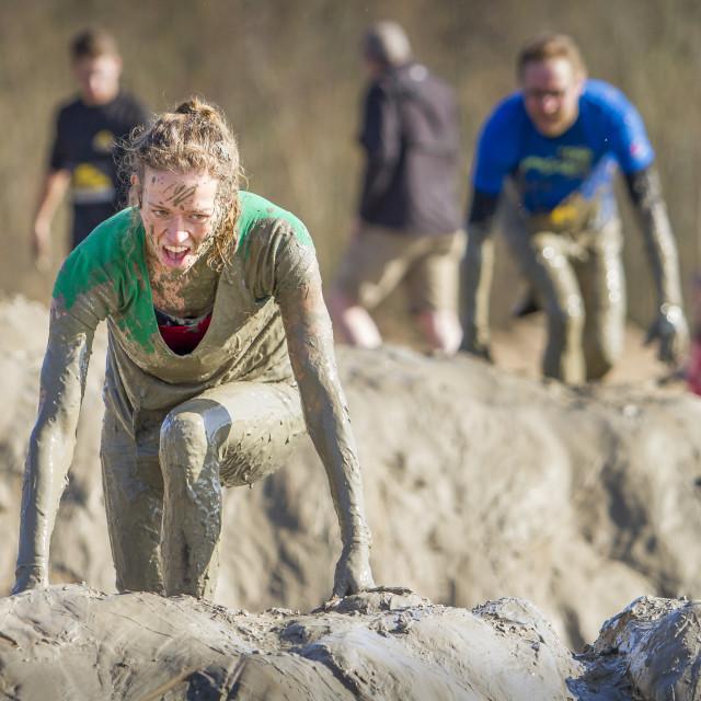 """Mud race"" stock image"