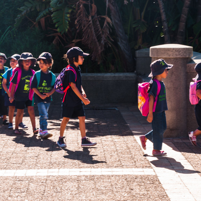 """""""School outing."""" stock image"""