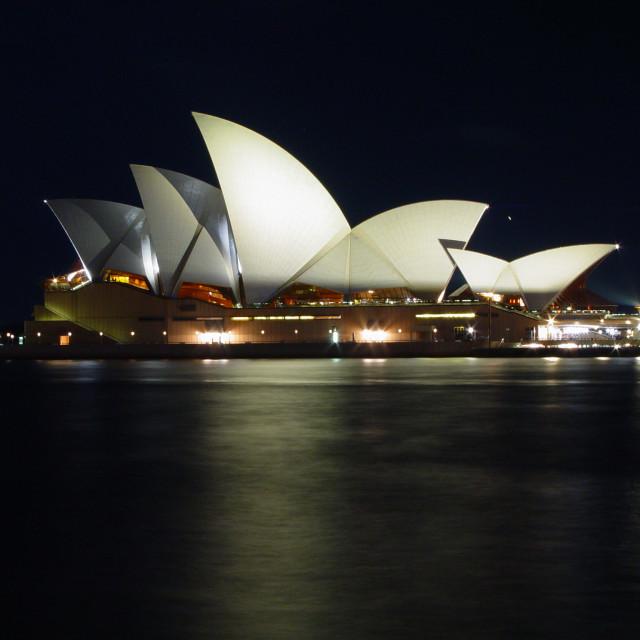 """Sydney Opera House by night"" stock image"