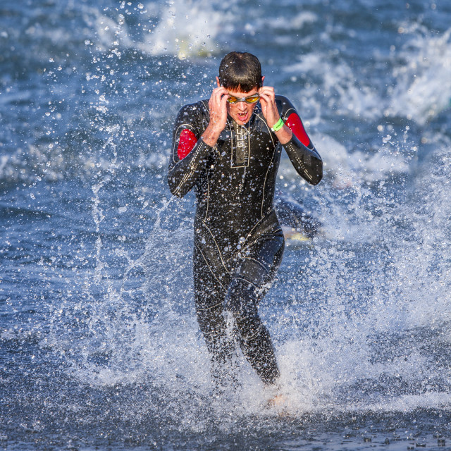 """Ironaman Triathlon"" stock image"