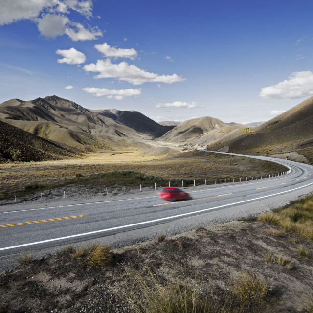 """Lindis Pass, New Zealand"" stock image"