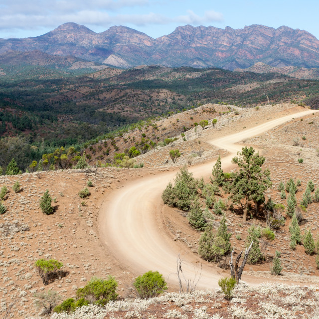 """Bunyeroo Valley, Flinders Ranges, SA"" stock image"