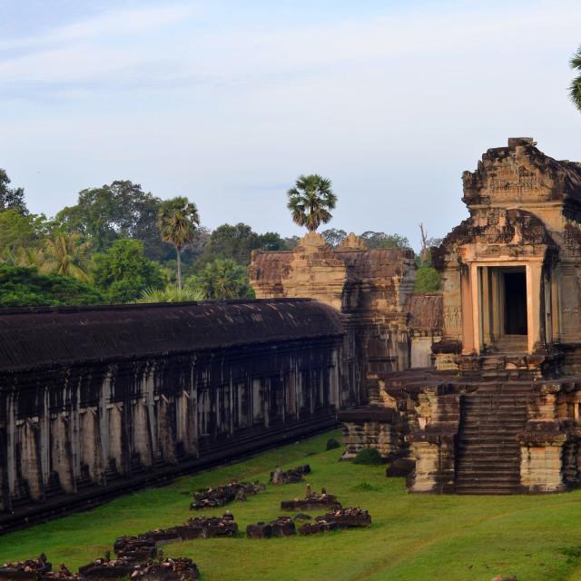 """Angkor Wat Library Ruins in Siem Reap, Cambodia"" stock image"