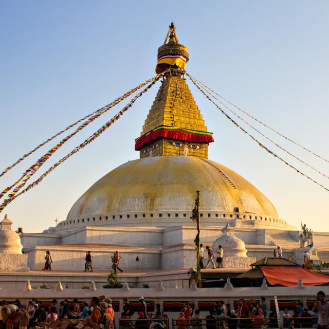"""""""Bouda, Kathmandu"""" stock image"""