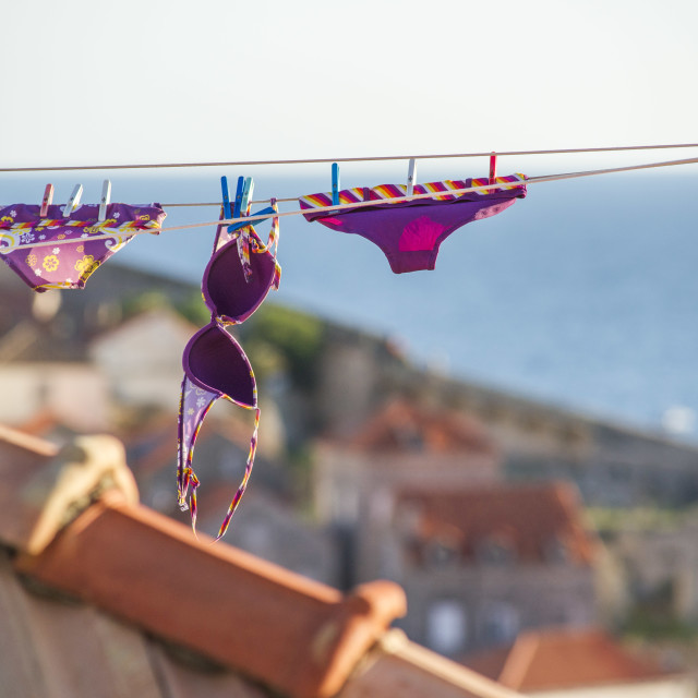 """""""Bikini drying"""" stock image"""