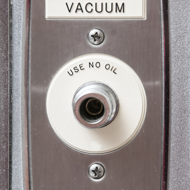"""""""A vaccuum intake in a patient room of a hospital"""" stock image"""