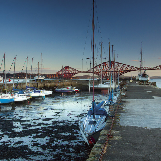 """Queensferry Harbour"" stock image"
