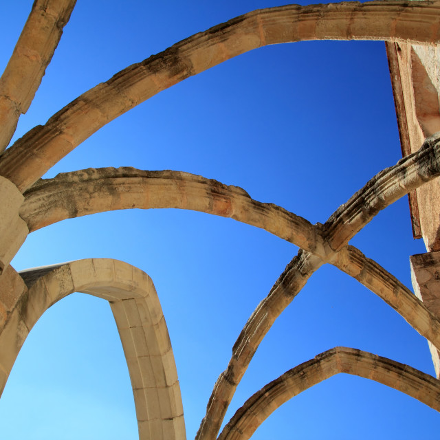 """""""Arches structure of ancient Monastery in Spain"""" stock image"""