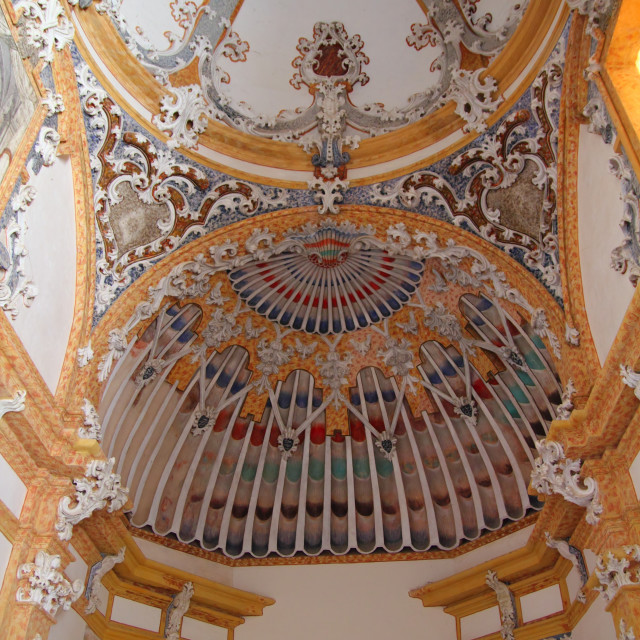 """""""baroque dome ceiling detail cathedral church"""" stock image"""