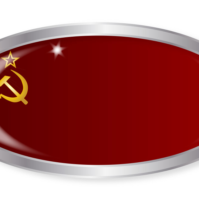 """Russia Flag Oval Button"" stock image"