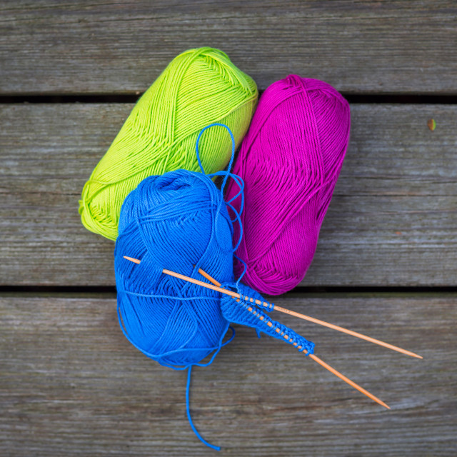 """Colorful wool for knitwear"" stock image"