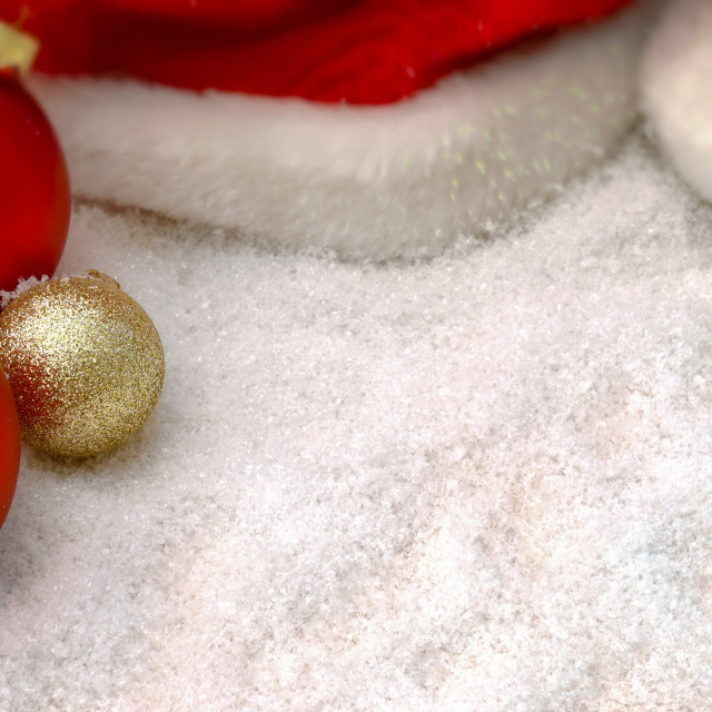 """""""Christmas decorations in the snow"""" stock image"""
