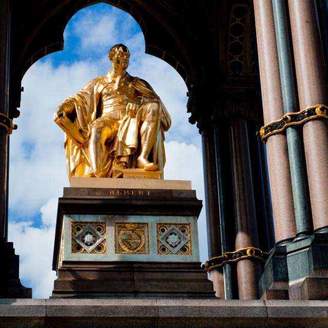 """""""Albert Memorial in Hyde Park, Kensington, London, detail: Prince's Albert..."""" stock image"""