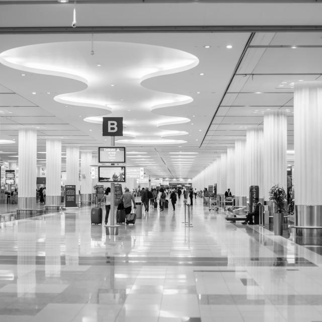 """DUBAI, UAE - MARCH 26: Dubai Airport on March 26, 2013. It is world largest..."" stock image"